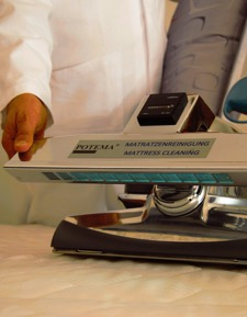 Hier sehen Sie unsere POTEMA® Austria Matratzenreinigungsmaschine im Detail - Sauberkeit und Hygiene pur