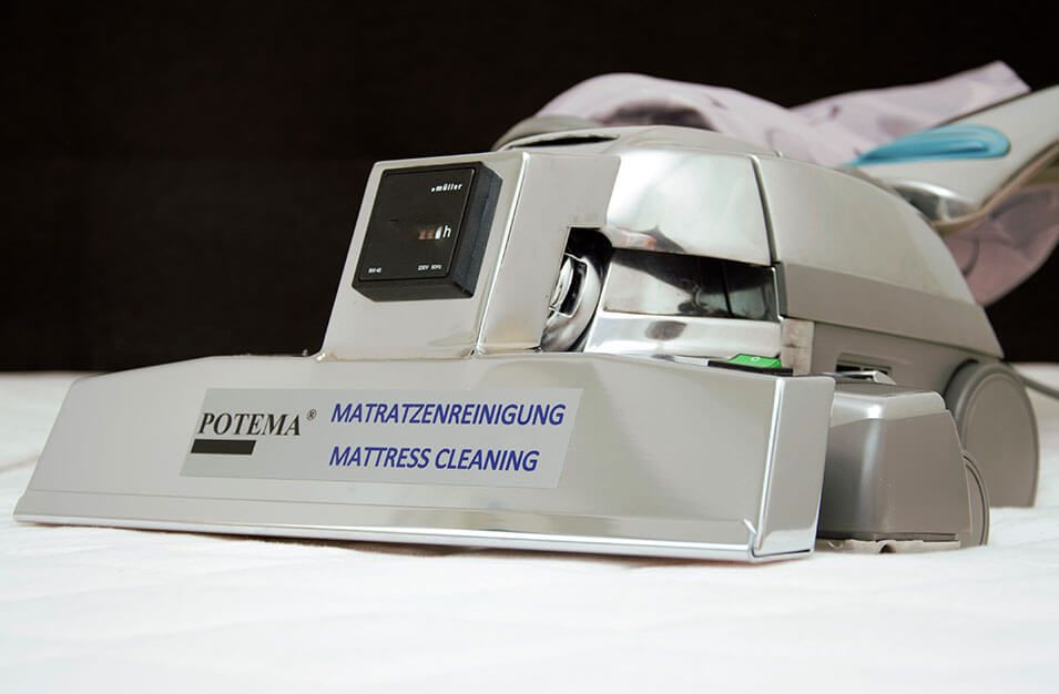 Hier sehen Sie unsere POTEMA® Austria Matratzenreinigungsmaschine - Sauberkeit und Hygiene pur